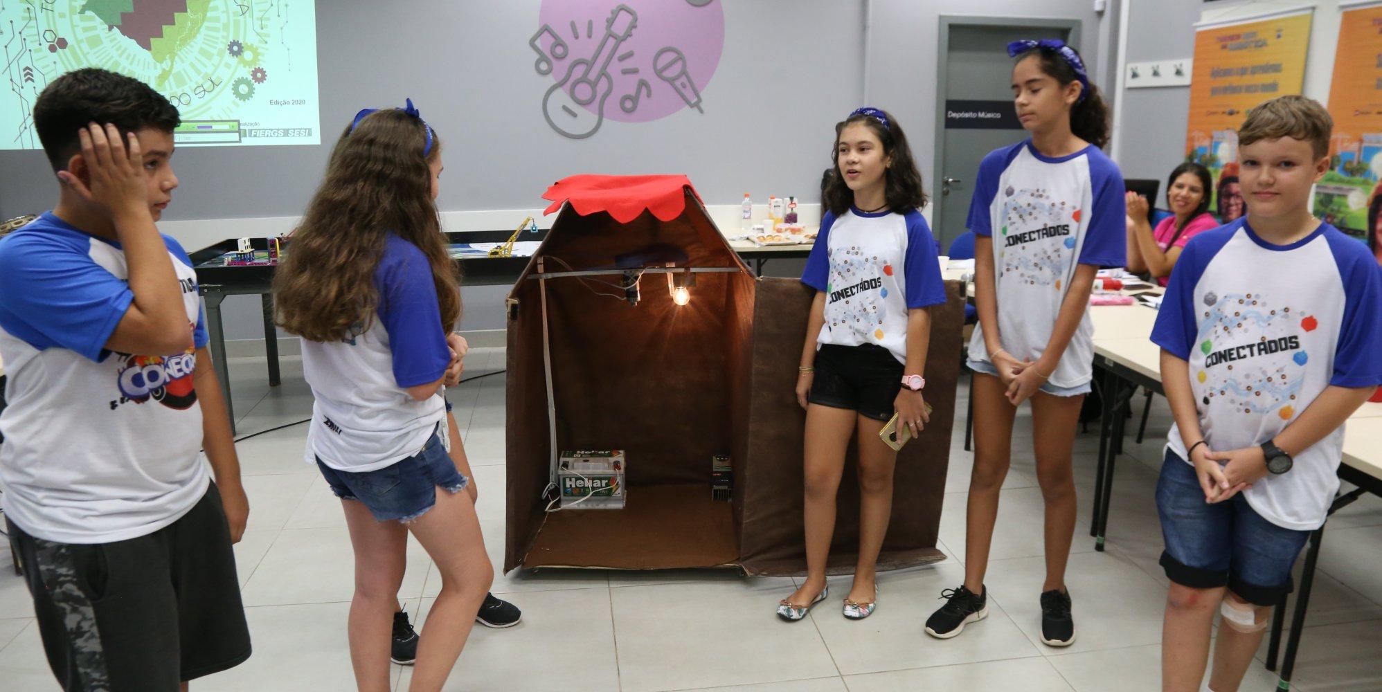 Amistoso de robótica na Escola Sesi de Gravataí