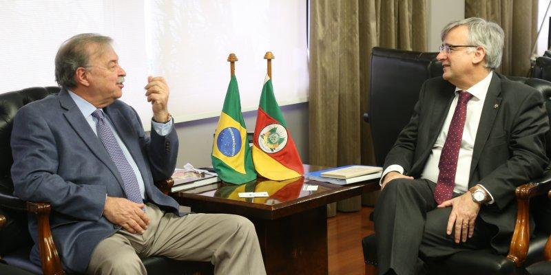 Presidente Petry e embaixador da UE