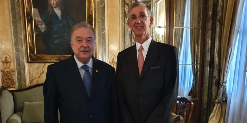 Petry e embaixador Sérgio Danese